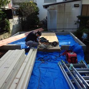 平塚市 新規物置の設置工事